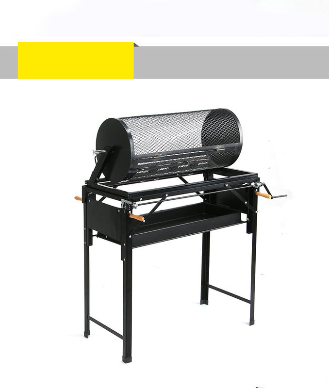 Burner Rotating Charcoal Bbq Grill , Small Chile Roaster With Adjustable Bbq Stand